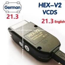 Vag com 21.3 vagcom 20.12 vag hex v2 interface usb para vw audi skoda seat vag 20.13 alemão inglês atmega162 + 16v8 ft232rq