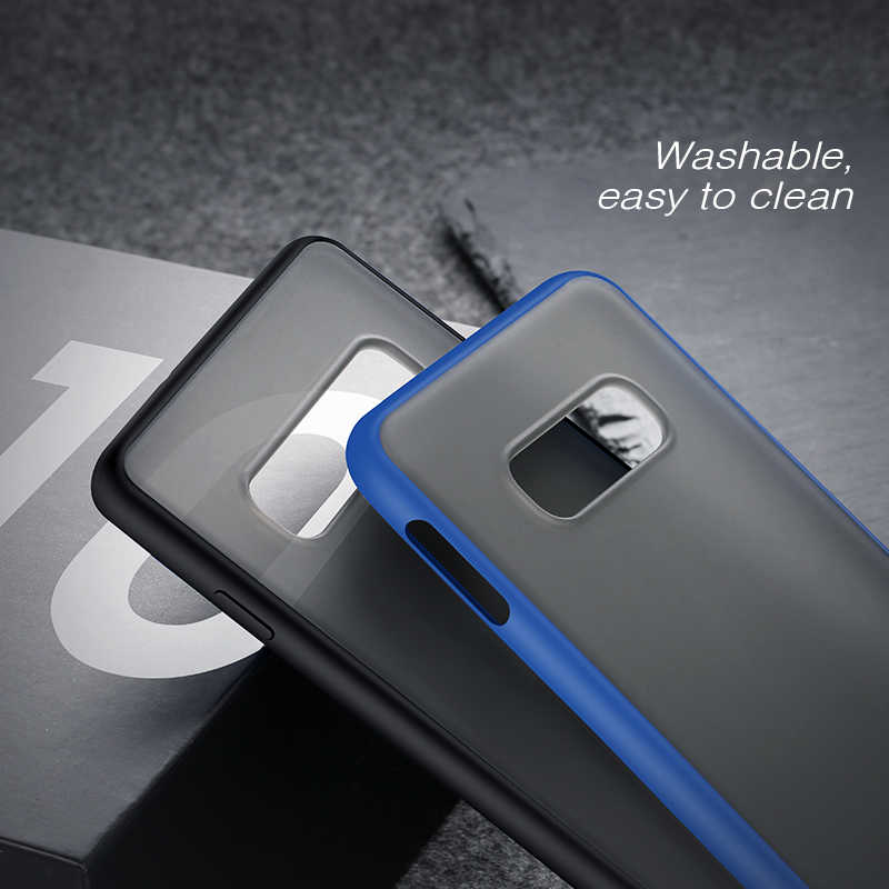 X-level caso transparente para samsung s10 plus duro fosco pc borda de silicone macio volta capa de telefone para samsung galaxy s10e caso s10