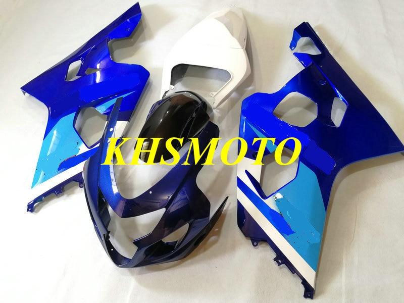 Motorcycle Fairing kit for GSXR600 750 K4 04 05 GSXR 600 GSXR 750 2004 2005 ABS blue white Fairings set+gifts SA74