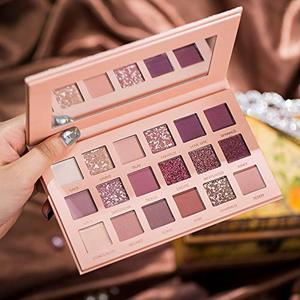 Image 2 - Beauty Eyeshadow Palette 18 Matte Shimmer Colors Long Lasting Perfect Mix Makeup Palette Powder Pink Shades Eye shadow Set