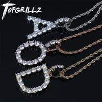 Ожерелье с подвеской в стиле хип-хоп для мужчин и женщин, оригинальная теннисная подвеска с буквами из циркония золотого и серебряного цвет...