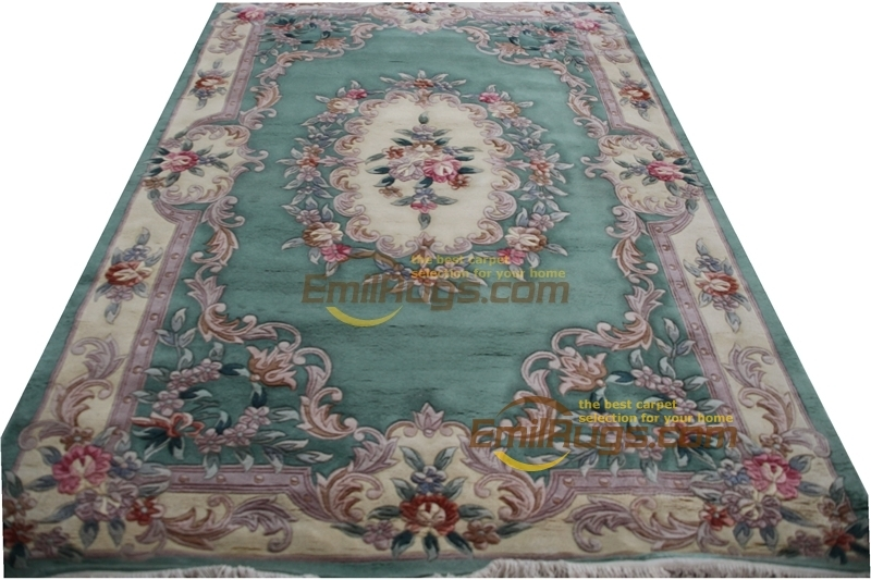 Savonnerie Carpet Rose Chinese French About Hand-knotted Thick Plush Savonnerie
