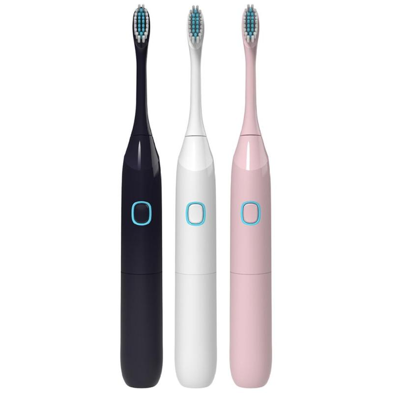Electric Toothbrush Ultrasonic Whitening Cleaner Teeth Waterproof Toothbrush with 2pcs Replaceable Brush Heads Healthy Best Gift image