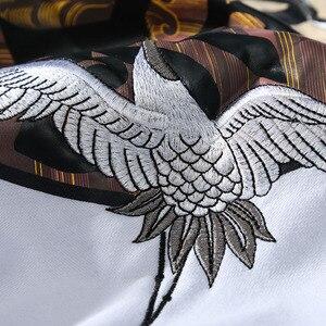 Image 5 - Männer Hip Hop Hoodie Sweatshirt Stickerei Kran Harajuku Streetwear Hoodie Fleece 2020 Herbst Baumwolle Mit Kapuze Pullover Übergroßen