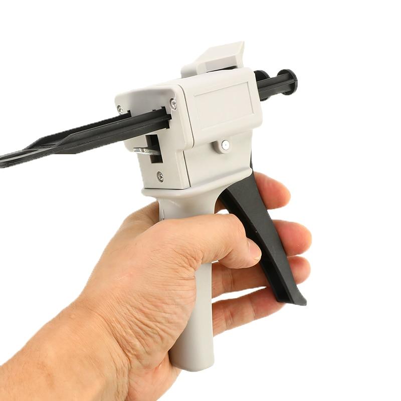 50ml Caulking Gun Hand Tool AB Epoxy Glue Gun Applicator Glue Adhensive Cartridge Gun 1:2 1:1 AB Glue Manual Dispenser Glue Gun