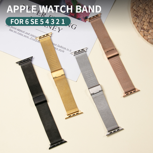 Milanese Loop Bracelet Correa for Apple Watch Band Series 6 SE 5 44mm 42mm Watch Strap for Iwatch 4 3 2 1 38mm 40mm Accessories 2