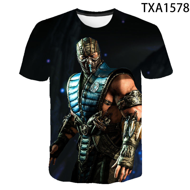 3D Printed T-shirt Men Women Children Mortal Kombat Fashion Casual Short-Sleeved T-shirt IT Boy Girl Kids Cool T-shirt Tops Tee