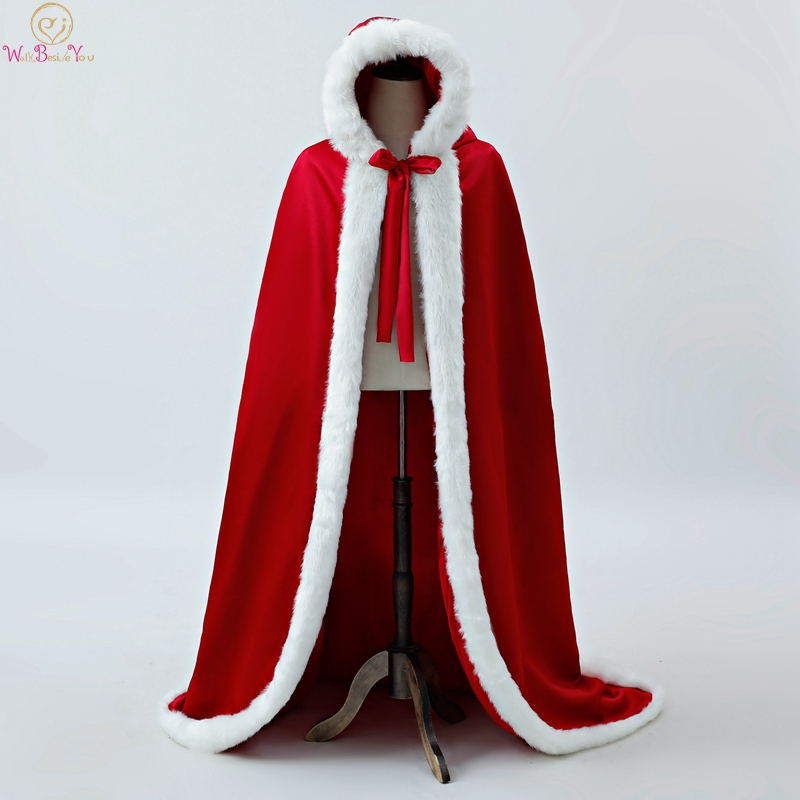 100% Real Pictures Red Party Evening Long Wraps 2019 New Ivory Wrap Faux Fur Wedding Capes Winter Women Bolero Capa Shawl Stock