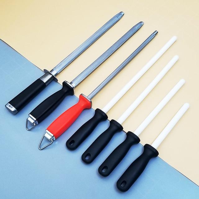 """1pcs 6""""/8""""/10""""/12"""" knife sharpener Sharpening Ceramic Rod ABS Handle Honing Knife Sharpener for Knives Sharpening steel musat"""
