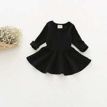 New Baby Girl Clothes Girls Dress Princess Autumn Kids Dresses for Baby Girls Clothes Long Petal Sleevel Solid Children Clothing miss haiwo fall kids dresses for girls pure cotton baby girl clothes stripes rainbow color girls long dress children s clothing
