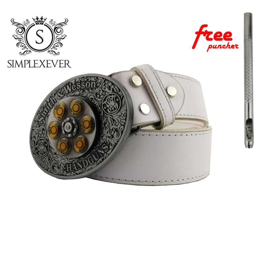 The Western Style Businessman Silver Belt Buckle Cowboy Belt Buckle Head with Belt Jeans Accessories for Men