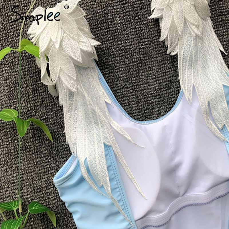 Нарядный женский цельный купальник Simplee, сексуальный слитный купальник для женщин, стильный, для лета
