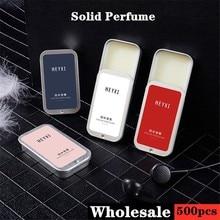 500 pcs Portable Magic Solid Perfume Body Deodorant Balm Solid Retro Deordorant Stick Balm Mild Long Lasting Aroma Deodorant