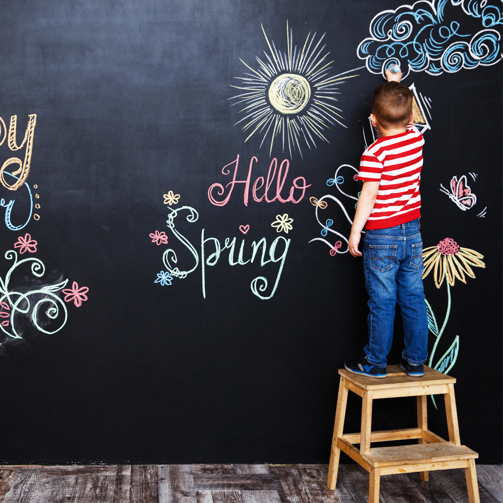 200x45CM Chalk Board Self-Adhesive Vinyl Draw Decor Erasable Learning Painting Writing Blackboard Office Notice Message Board
