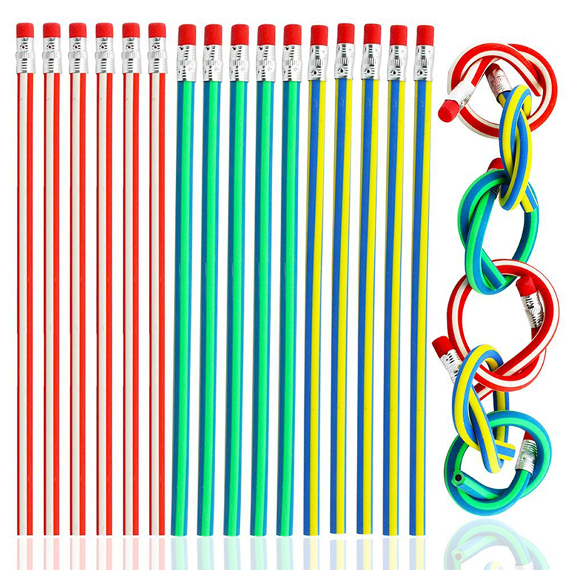 Magic Bendy Flexible Soft Pencil With Eraser Stationery Student Rubber Lead Pencils School Office Writing Supplies Random Color