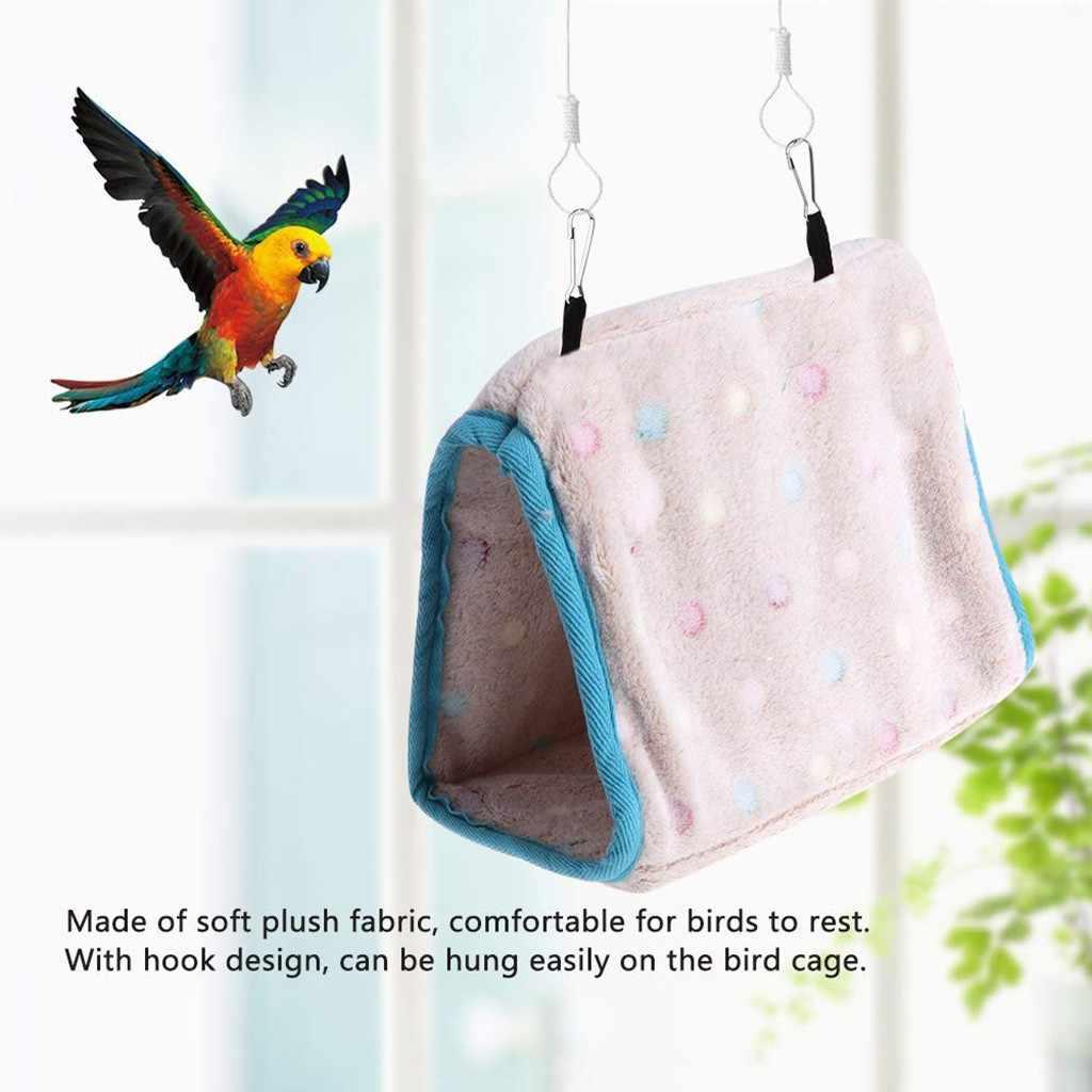 2019 gorąca sprzedaż zwierzęta ptak klatka dla papugi łóżko namiotowe zima ciepły ptak łóżko dom kreatywny papuga wiszący otwór różowy S M
