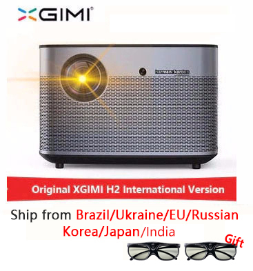 XGIMI H2 1920*1080 Suporte projetor dlp projetor Full HD 1350 ANSI lumens 3D 4K Android Bluetooth wi-fi beamer
