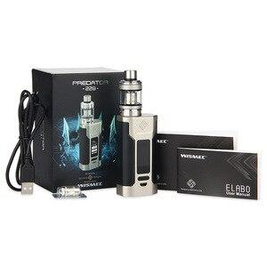 Image 5 - Оригинал Wismec Predator 228 Mod с атомайзер Elabo Vape kit Поддержка двух аккумуляторов 18650 электронная сигарета Kit