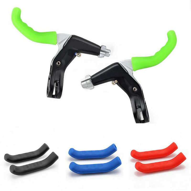 1Pair Bicycle Handle Bar Grips Cover Brake Handle Cover MTB Mountain Bike Cycling Bicycle Silicone Anti-slip Handlebar Soft Grip