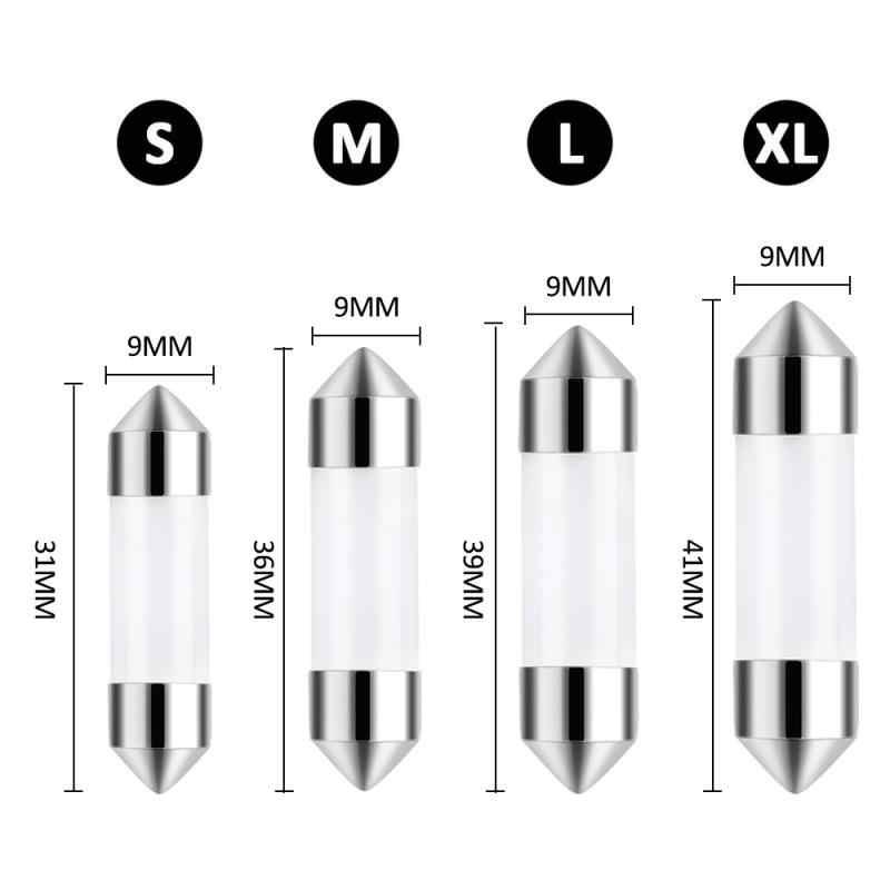 1PC C5W Cob LED Lampe Auto Led-lampe 41mm 39mm 36mm 31mm Auto Innen Lesen lichtquelle Weiß Lizenz Platte Licht 12V