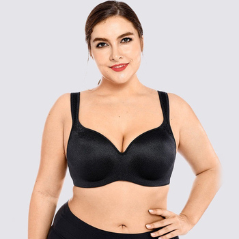 Big Size Push Up Bra For Fat Breasted Women Super Underwire Wide Strap Sexy C D Cup Plus Lingerie