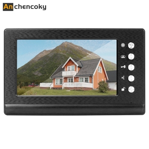 Anchencoky Video Door Phone 7 inch Video Doorbell Monitor  support IR Night Vision for Video Intercom System