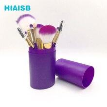 Makeup Brushes Set With Case Face Eyes Brush Travel 12PCS Fashion Beauty Health HIAISB
