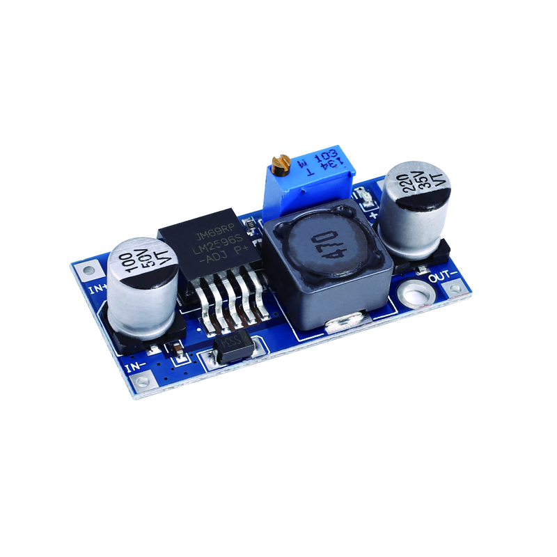 Dip 1 peça DC-DC conversor de buck módulo lm2596 fonte de alimentação saída 1.25v-30v