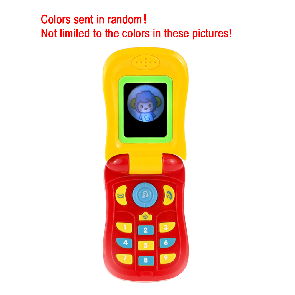Electronic Toy Funny Flip Camera Phone Toy Baby Learning Study Musical Sound Camera Educational Kids Electronic Toys 1