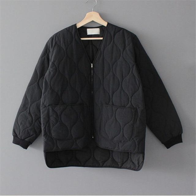 New Loose Baseball Cotton-Padded Coat Bubble Solid Oversized Short Women Jacket Winter Autumn Female Puffer Jackets Parkas Mujer 2