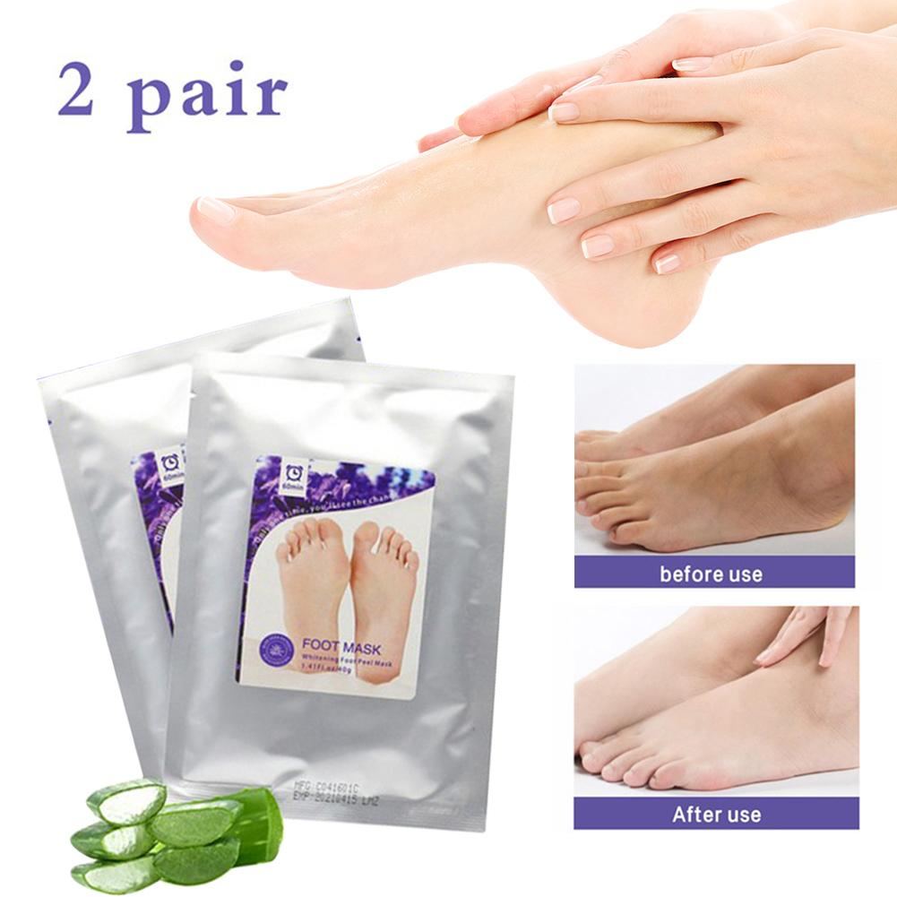 2 Pairs Exfoliating Foot Peel Mask-Peeling Away Rough Dead Skin & Calluses in 1-2 Weeks Repair Heels Lavender for Men Wome