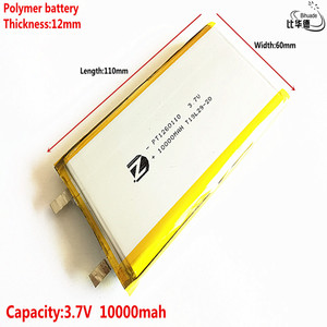 2020 Pure batteries Good Qulity 3.7V,10000mAH,1260110 Polymer lithium ion / Li-ion battery for TOY,POWER BANK,GPS,