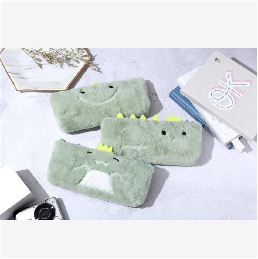 1 Pcs Kawaii Pencil Case Dinosaur Park Plush Gift School Pencil Box Pencilcase Pencil Bag School Supplies Stationery