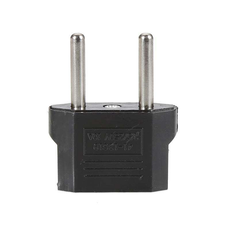 Adaptador eua para plug ue conversor de conversão de viagem plugues de energia durável alta qualidade