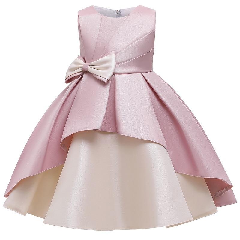 Girls Dresses Big Bow Formal Evening Wedding Gown Tutu Princess Dress Flower Girls Children Clothing Kids Party For Girl Clothes