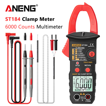 ANENG ST184 Digital Multimeter Clamp Meter True RMS 6000 Counts Professional Measuring Testers AC/DC Voltage AC Current Ohm aneng st184 digital multimeter clamp meter true rms 6000 counts professional measuring testers ac dc voltage ac current ohm