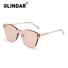 Rimless Thicken Women Sunglasses One Piece Candy Color Sun Glasses for Women
