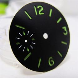 Replacement 34.3MM Luminous Watch Dial Sterile Sandwich Dial for ETA 6497 Watch Movement Repair Part