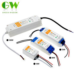 DC12V 18 W 36 W 72 W 100 W Трансформаторы освещения высокое качество светодиодный драйвер для Светодиодные ленты Питание