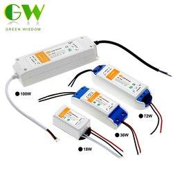 DC12V 18W 36W 72W 100W Beleuchtung Transformatoren Hohe Qualität Led-treiber für LED Streifen Lichter 12V Netzteil Adapter.
