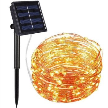 ledniceker multi colored solar led string lights with garden solar panel for garden patio christmas tree parties and all outdoor and indoor activities decoration 4 8 meters long 20 waterproof bulbs LED Solar Light Outdoor Waterproof Fairy Garland String Lights Christmas Party Garden Solar Lamp Decoration Christmas Led String