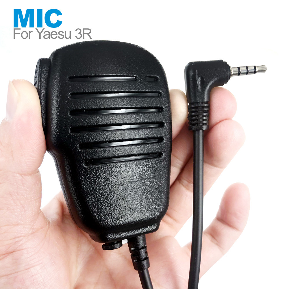 New PTT Speaker Mic Microphone For YAESU VERTEX VX-3R FT-60R FT1DR FT2DR VX-10 VX-17 VX-110 VX-150 VX-130 Walkie Talkie Radio