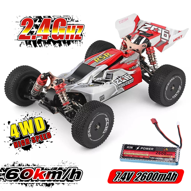 WLtoys 1/14 144001 RTR 2.4GHz RC Car Scale Drift Racing Car 4WD Metal Chassis Hydraulic Shock Absober Off-Road Vehicle Toy 1