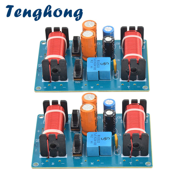 Tenghong 2 Pcs 150W 3 Way Audio Luidspreker Crossover Treble Midrange Bass Boekenplank Auto Luidsprekers Filter Frequentie Divider Crossover