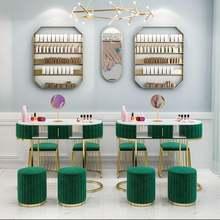 Ins сетчатый красный мраморный стол для ногтей и стул набор