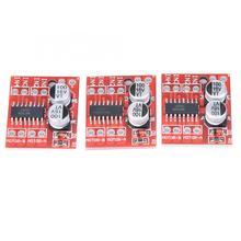 цена на 3pcs 1.5A 2-Way DC Motor Driver Module PWM Speed Regulation Dual H-Bridge Replace L298N digital stepper driver