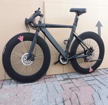 Rower szosowy bicicleta 700C * 23 rower szosowy mężczyzna i kobieta rower 14 prędkości hamulce tarczowe tanie tanio kalosse Unisex Ze stopu aluminium ze stopu aluminium Ze stopu magnezu 150-200 cm 14 kg Podwójne hamulce tarczowe 0 1 m3