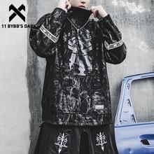Streetwear Hoodie Pullover 11-Bybb's Sweatshirt Mens Winter Cotton Dye Dark-Tie Hip-Hop