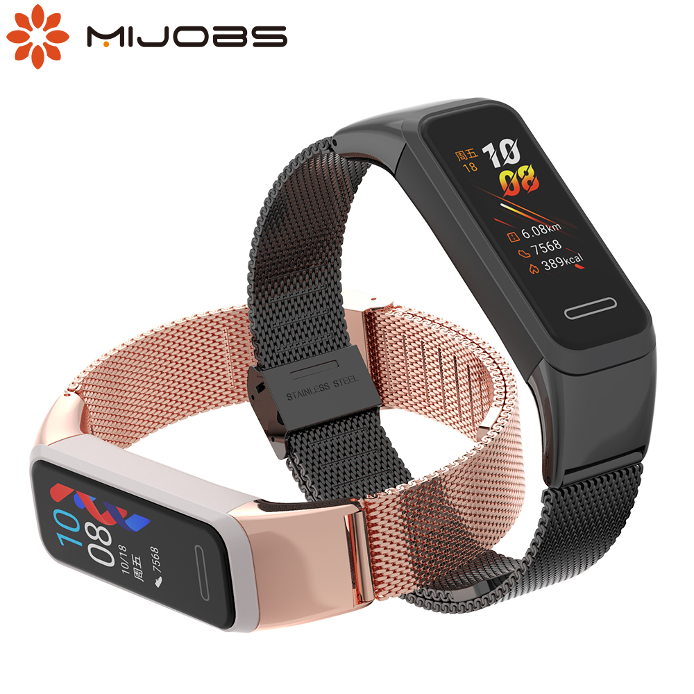 Strap for Huawei Band 4 Metal Wrist Bracelet for Honor band 5i Strap Wristbands for Huawei 4 band Correa Wrist Strap