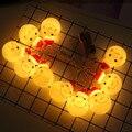 Kreuz Grenze INS Heißer Verkauf LED Weihnachten Schneemann Batterie Beleuchtung Kette Weihnachten Baum Dekorative Lampe Urlaub String Licht Co-in Lichterketten aus Licht & Beleuchtung bei